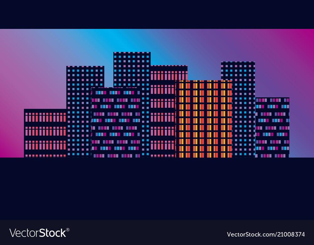 Concept geometric urban silhouette skyline