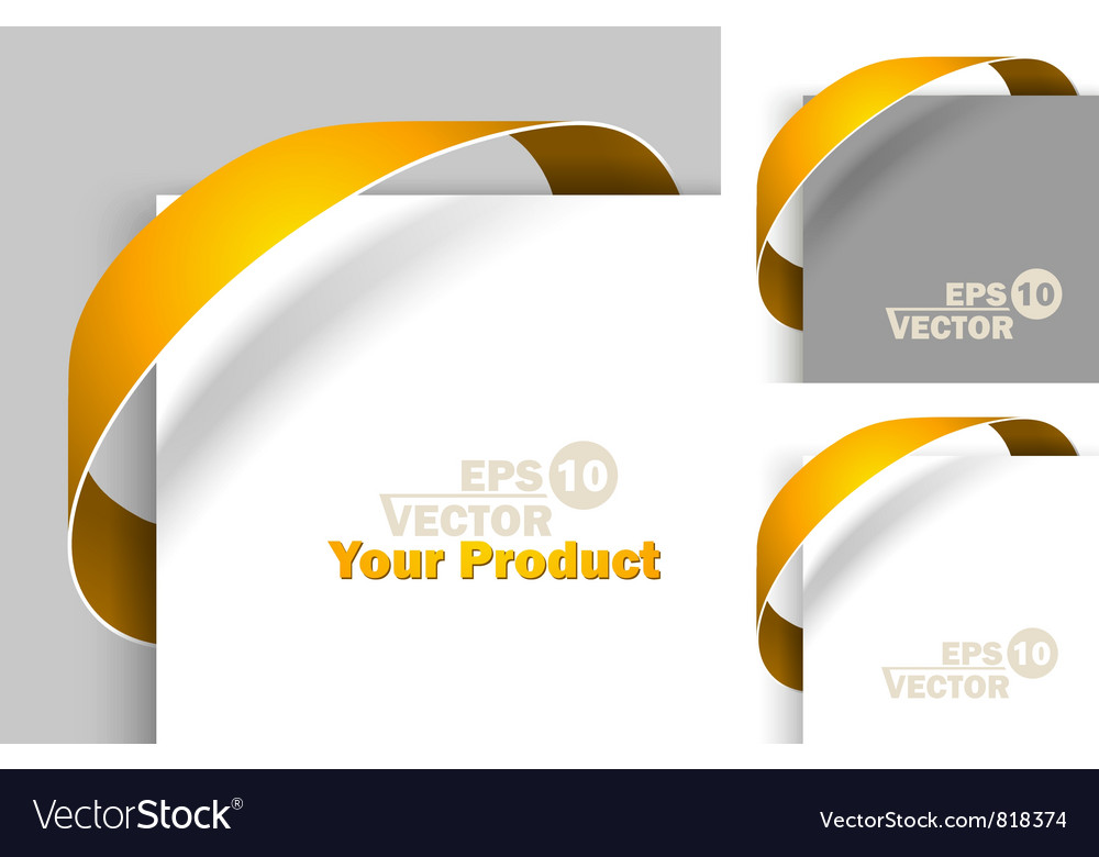 Creative labels vector image