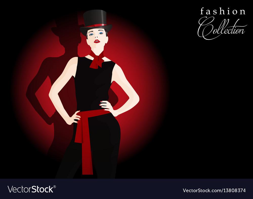 Fashion teenage girl vector image