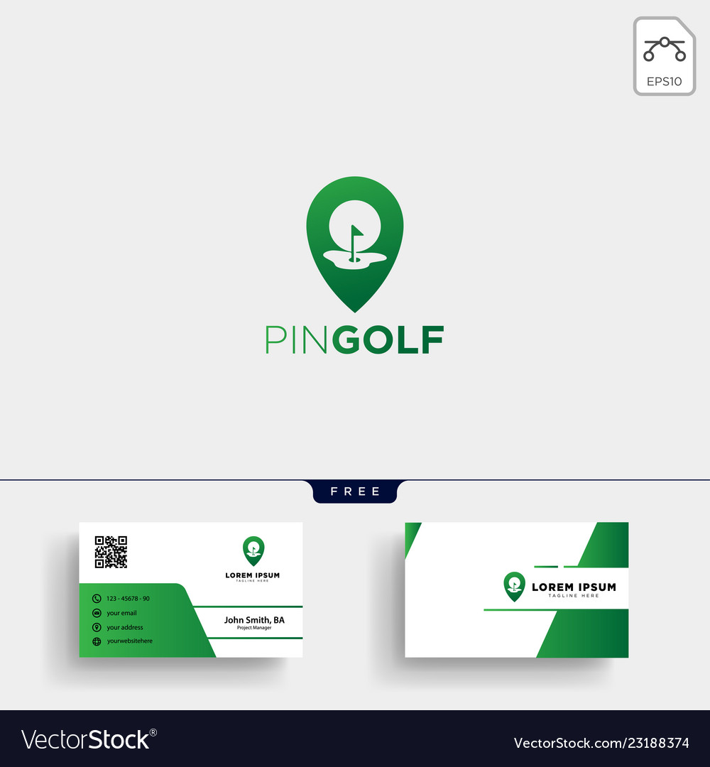 Golf location or map logo template and business