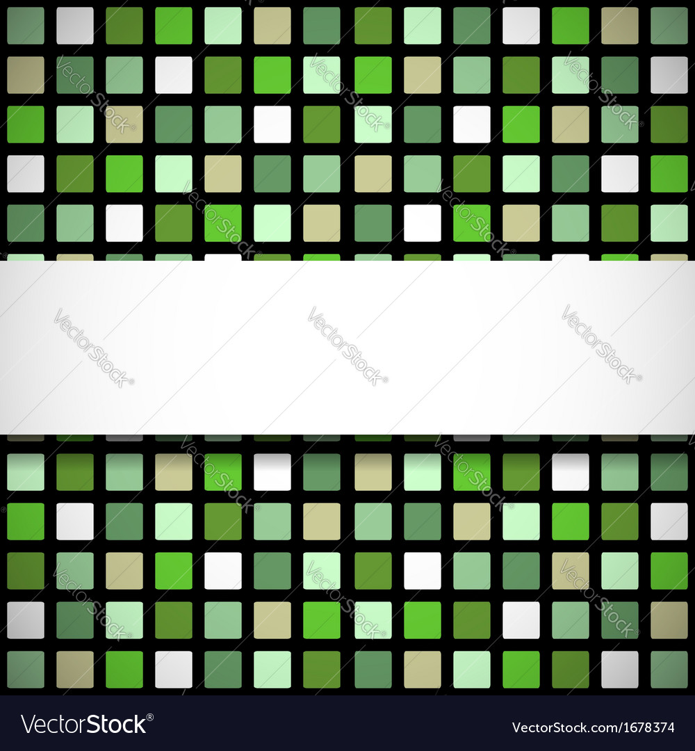 Green stained-glass window pattern