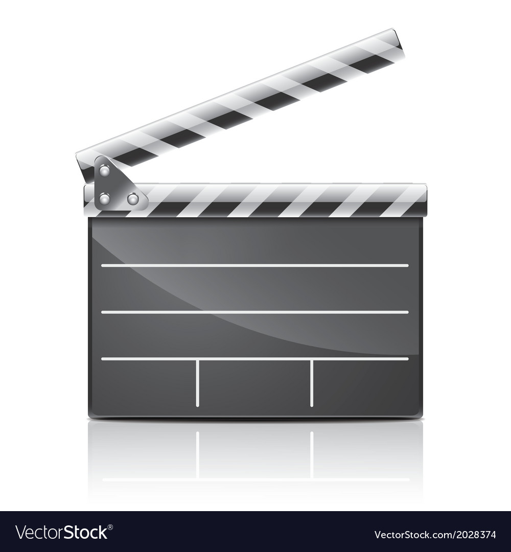 Object film clapper vector image