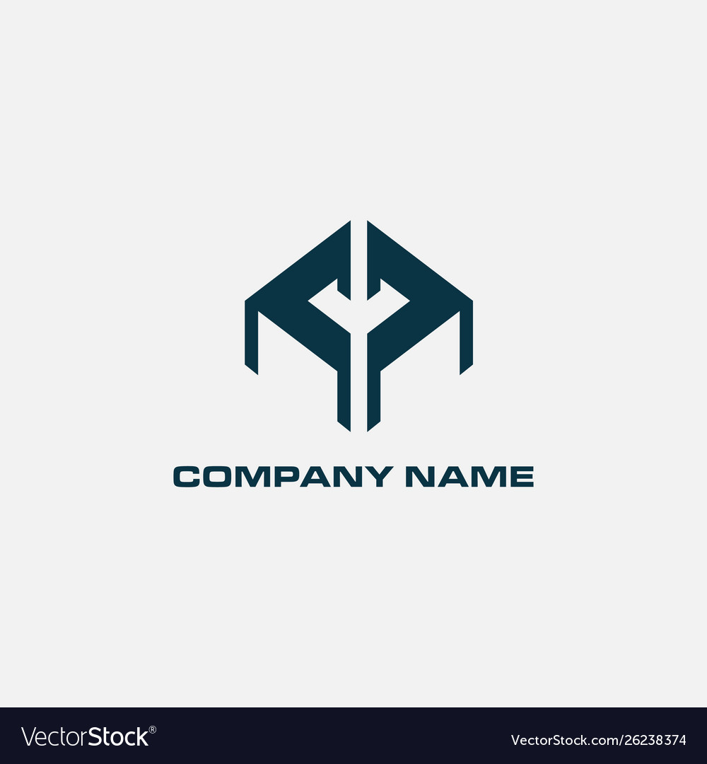 Real estate logo concept building log