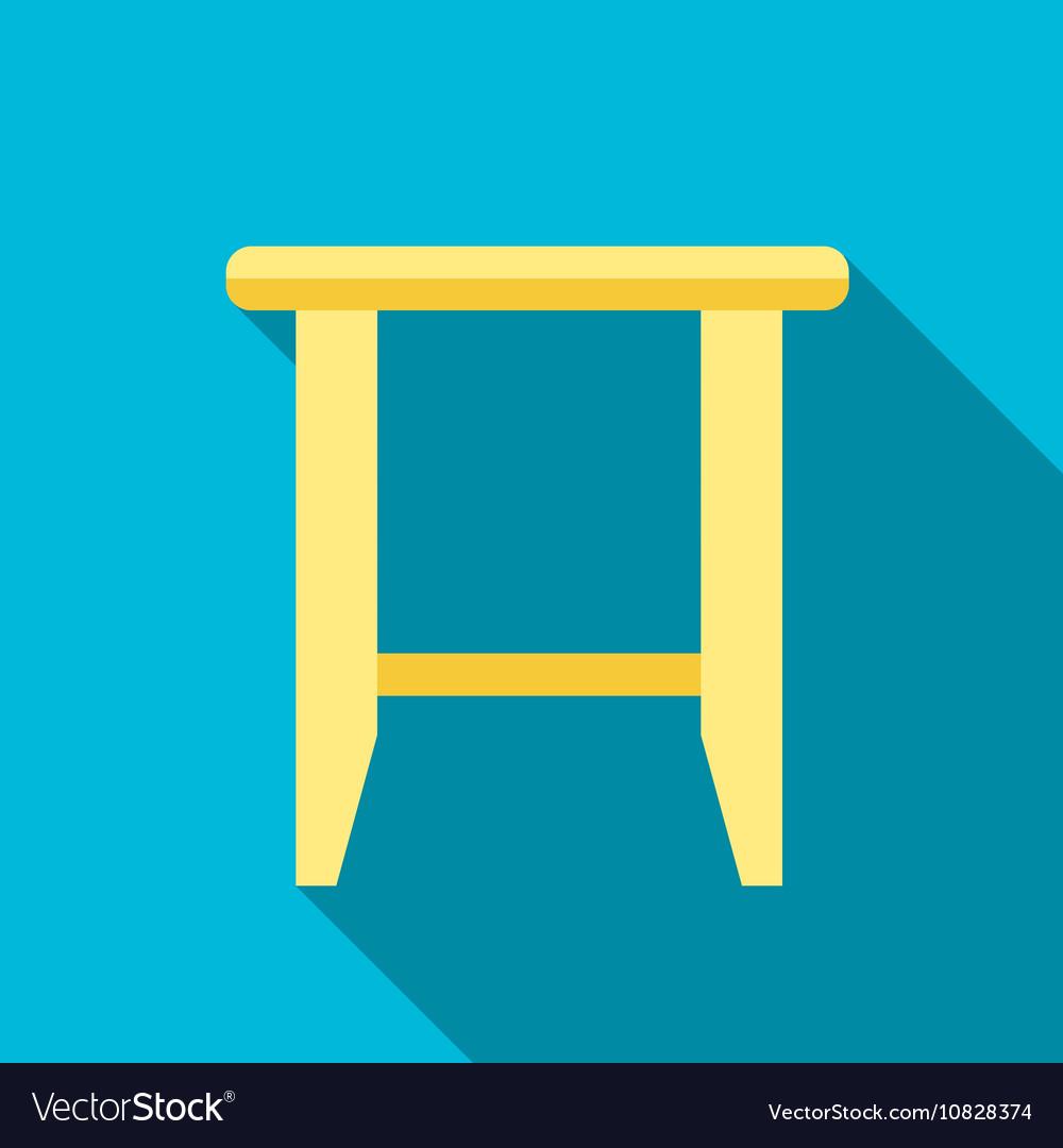 Stool flat icon