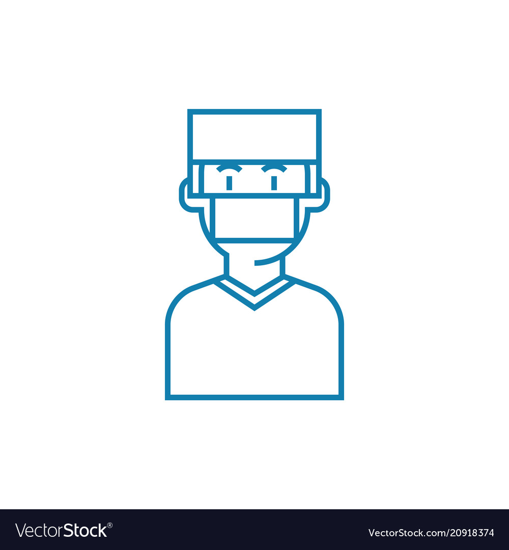 Surgeon linear icon concept surgeon line