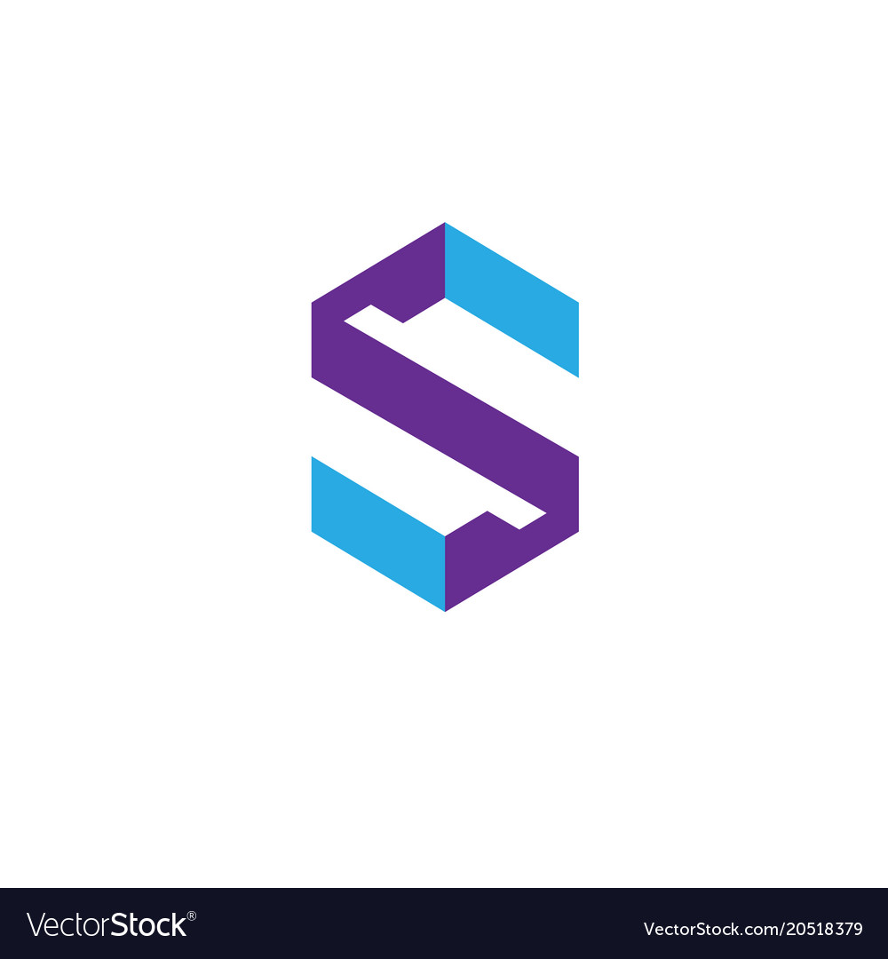 best letter s logo design template royalty free vector image