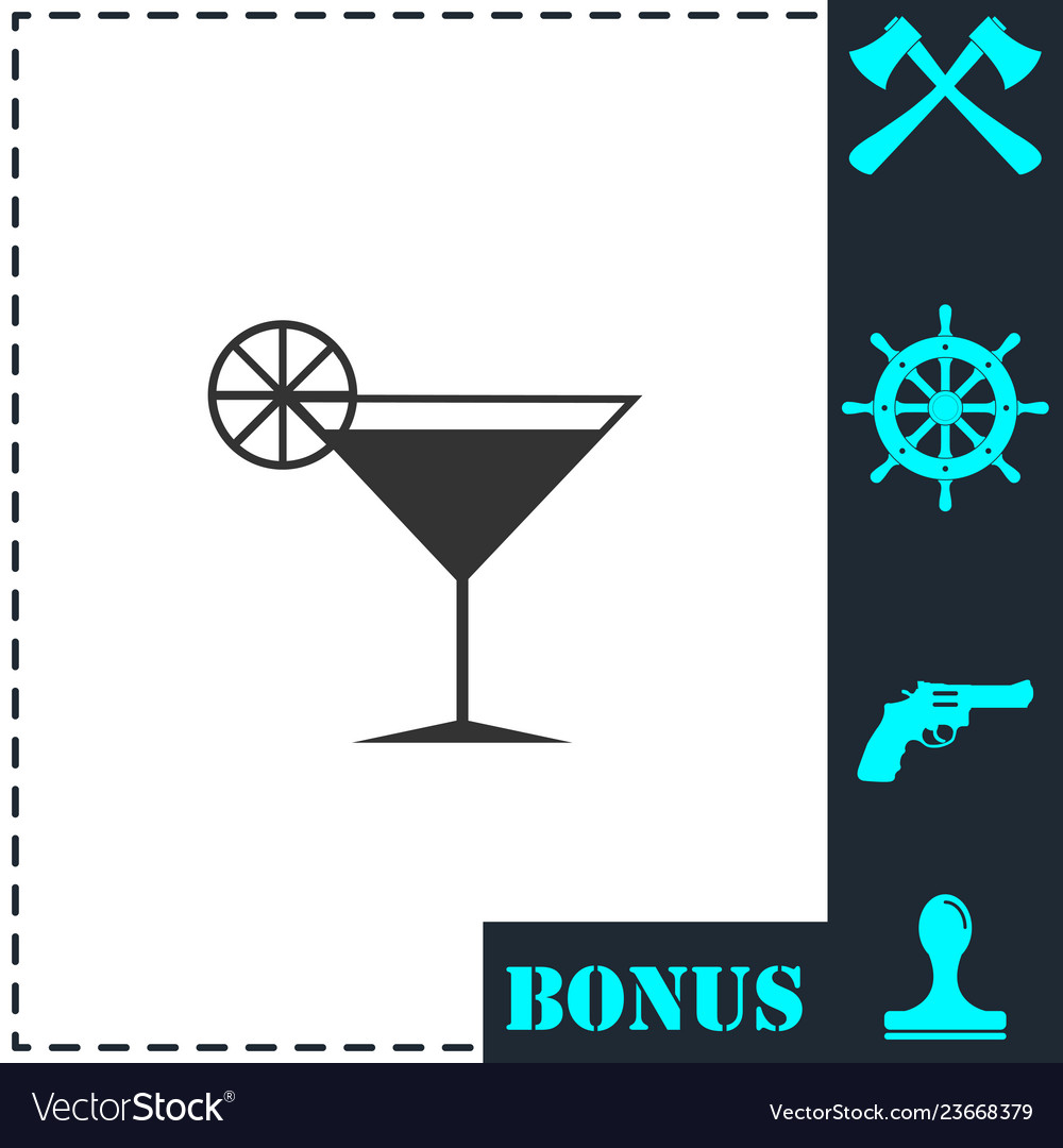 Cocktail icon flat