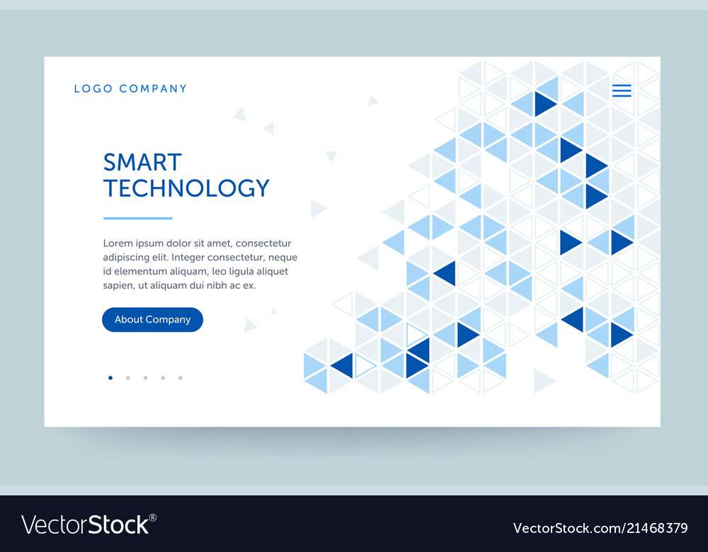 Homepage template header for website and mobile