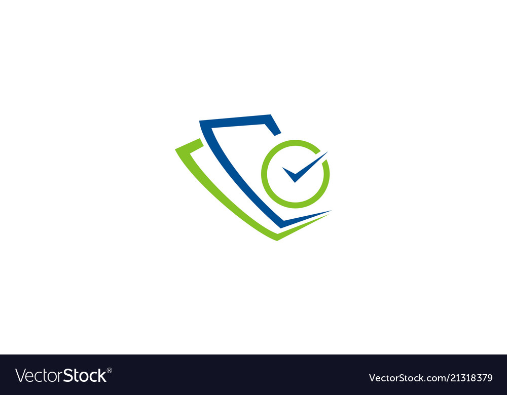 Paper document check logo