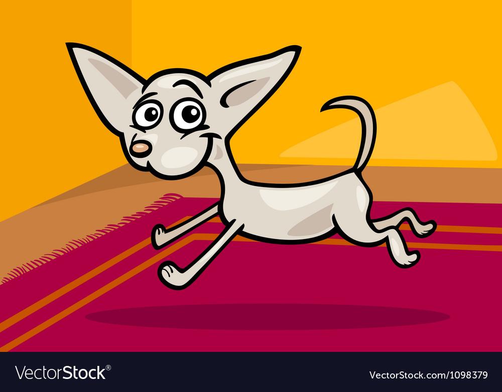 Running chihuahua cartoon