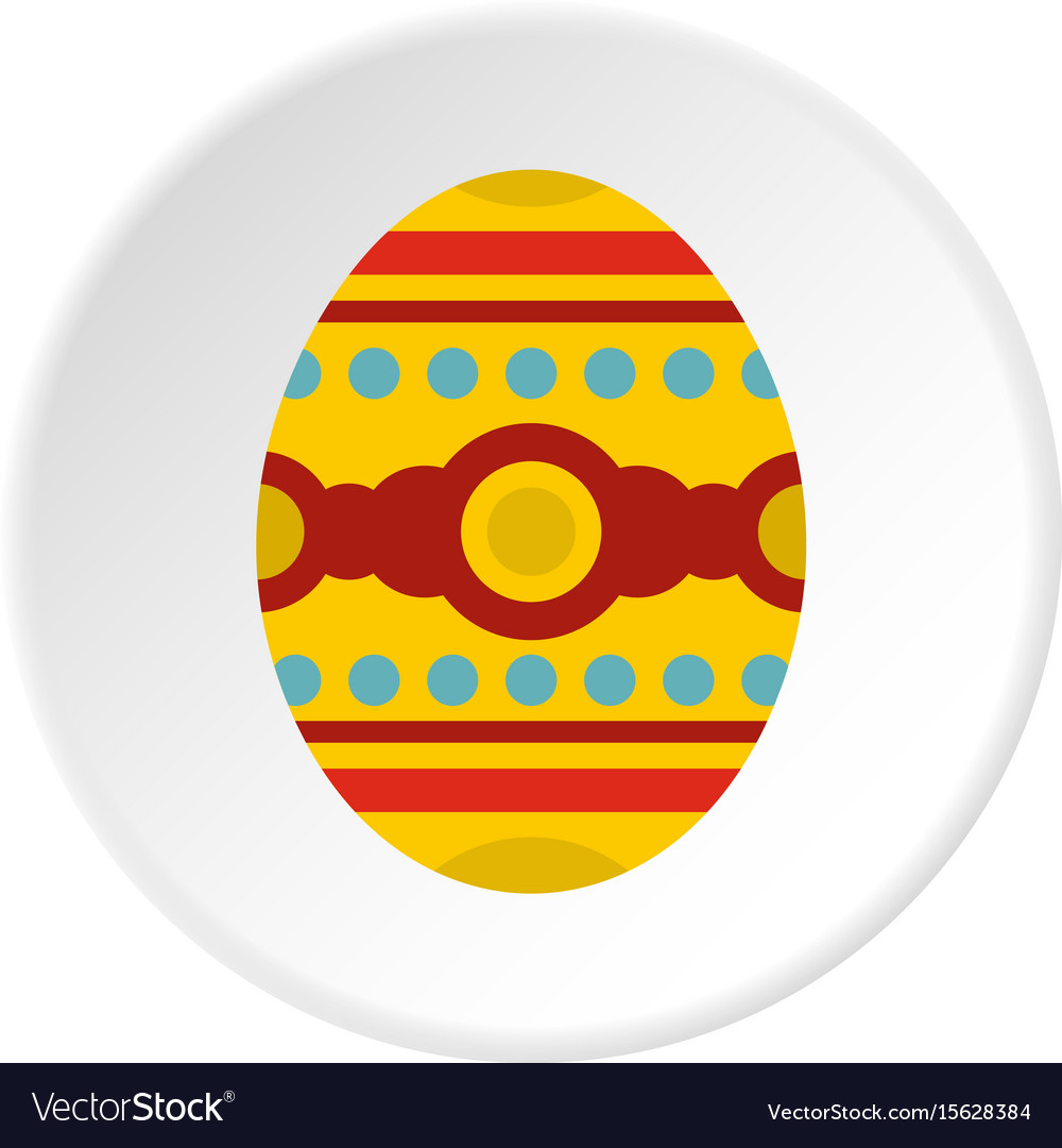 Beautiful easter egg icon circle