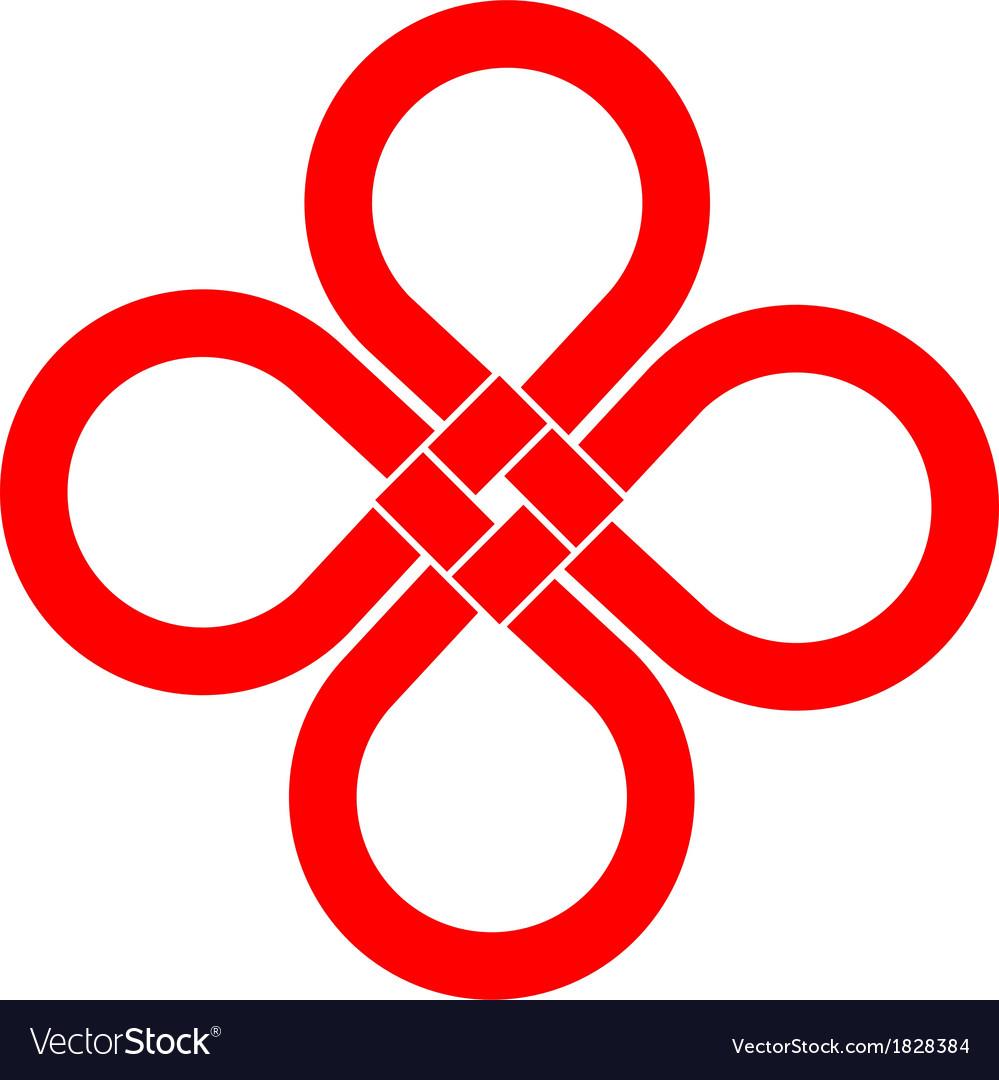 Cloverleaf Knot Good Luck Symbol Royalty Free Vector Image
