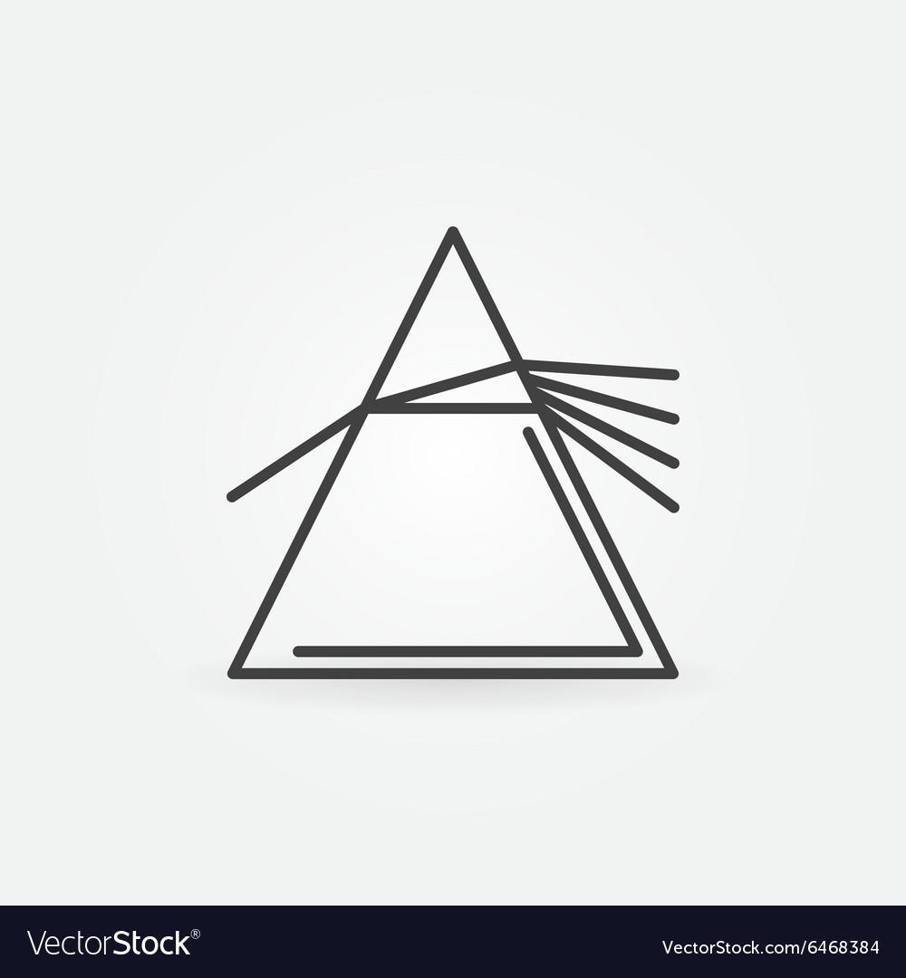 Dispersive prism icon