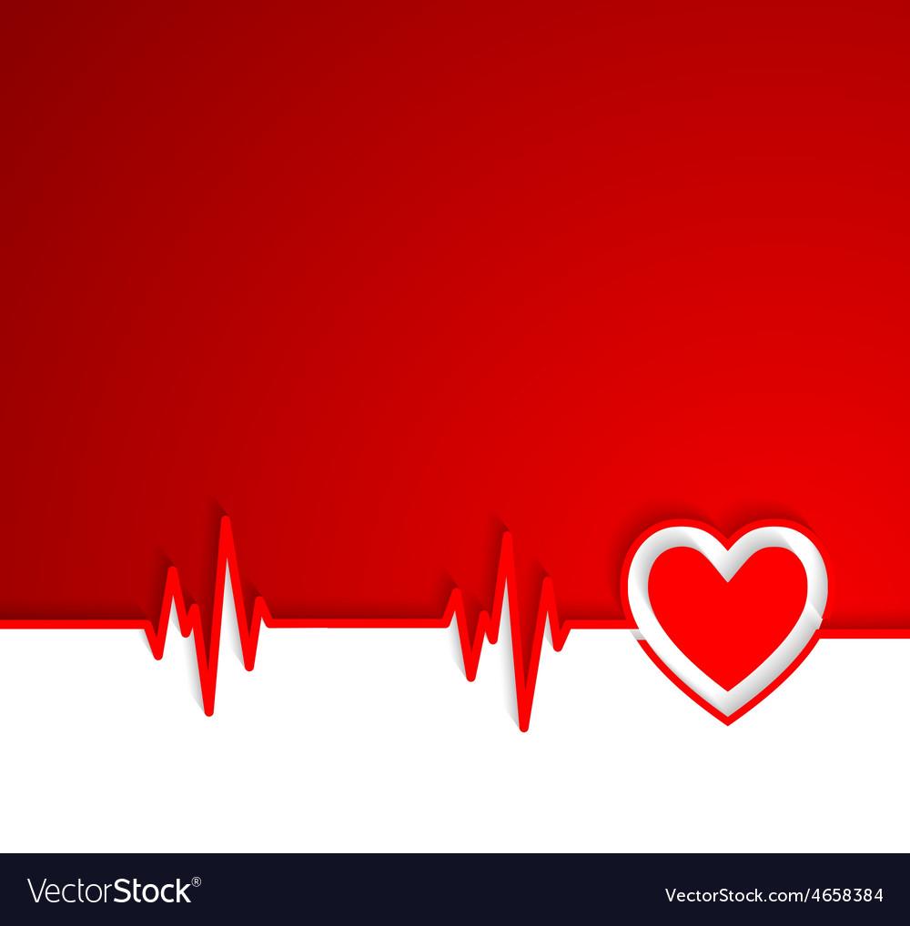 Heart beat cardiogram with heart shape