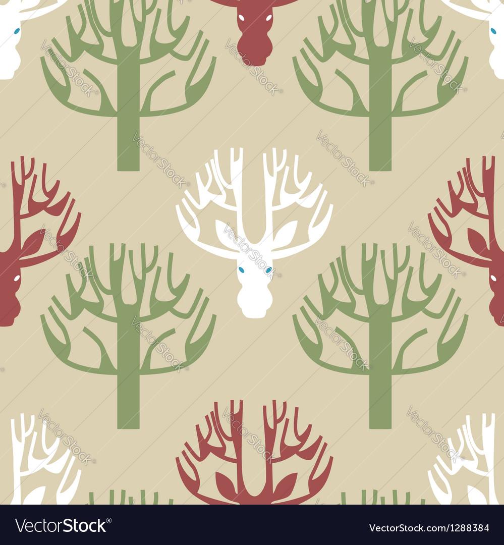 Tree and deer print