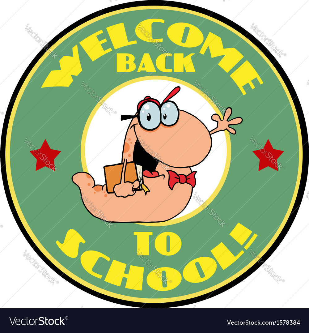 Welcome back to school logo vector image