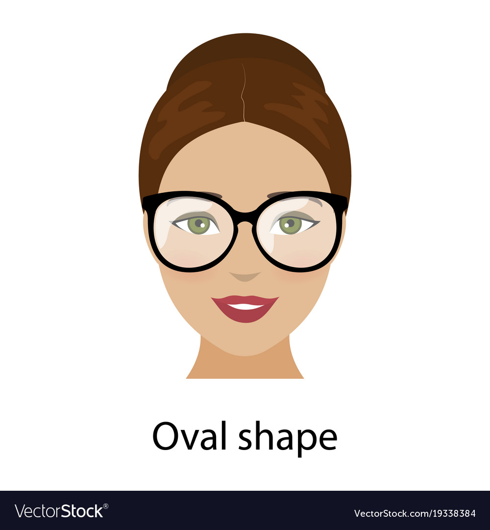 Woman oval face shape Royalty Free Vector Image
