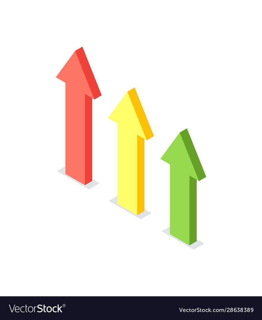 Arrow raising up financial growth crowdfunding