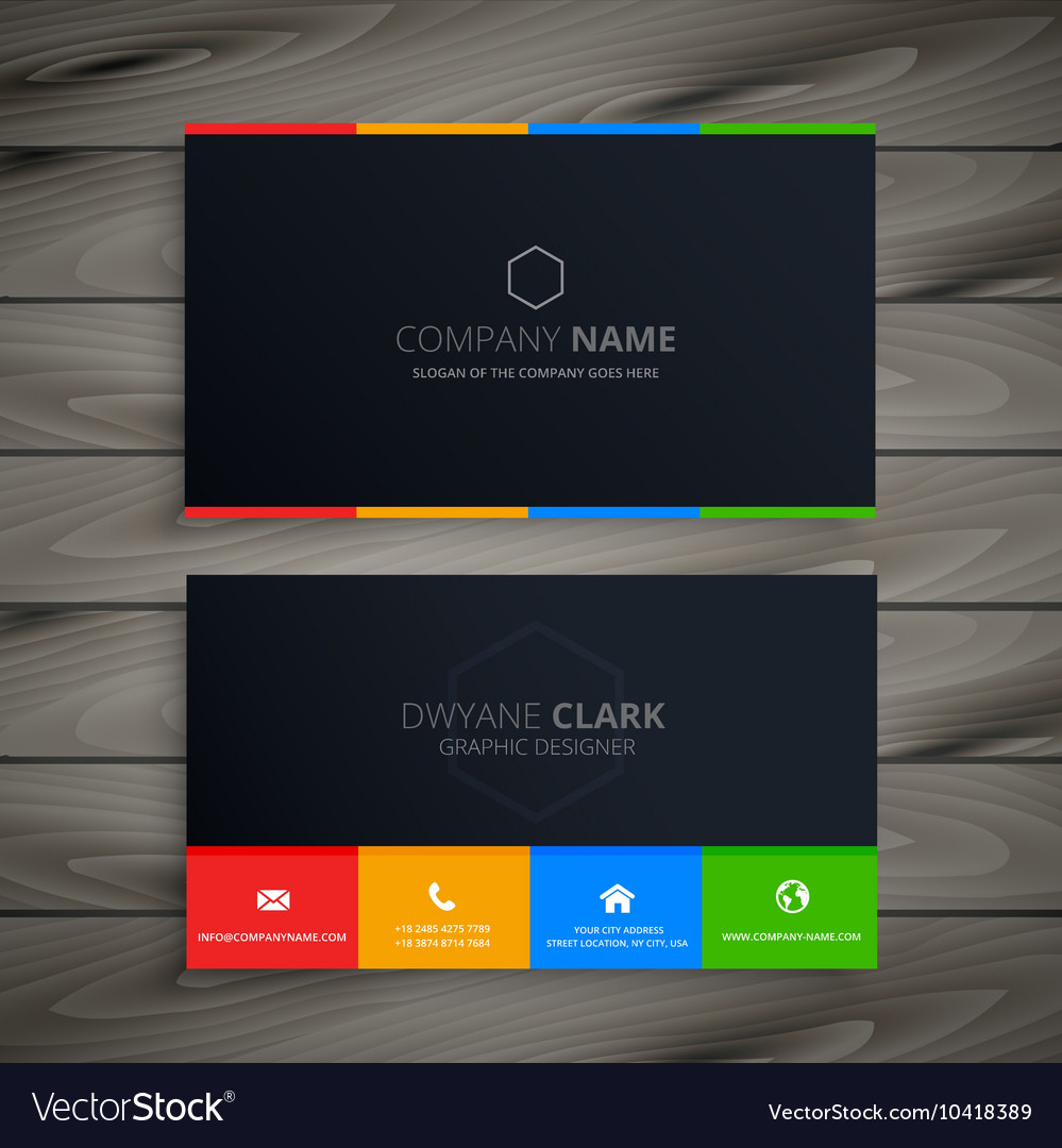 Dark clean business card