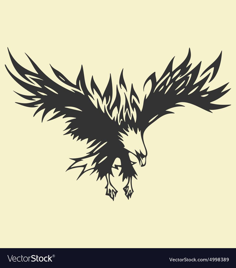 Eagle Tattoo Royalty Free Vector Image Vectorstock