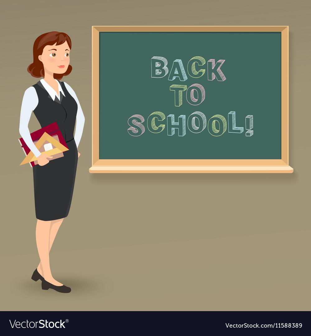Message on blackboard and teacher vector image