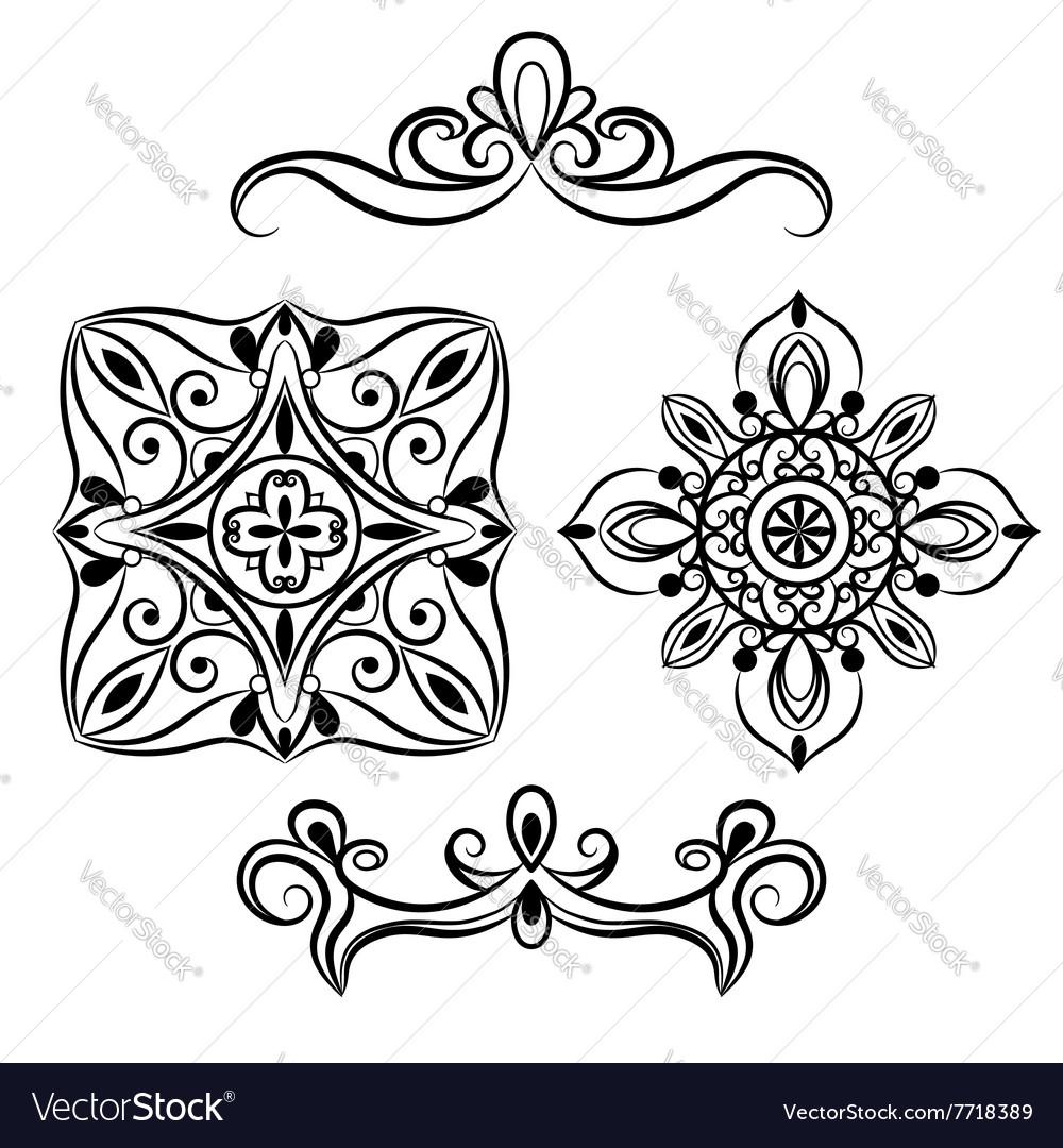 Set ornamental element for design