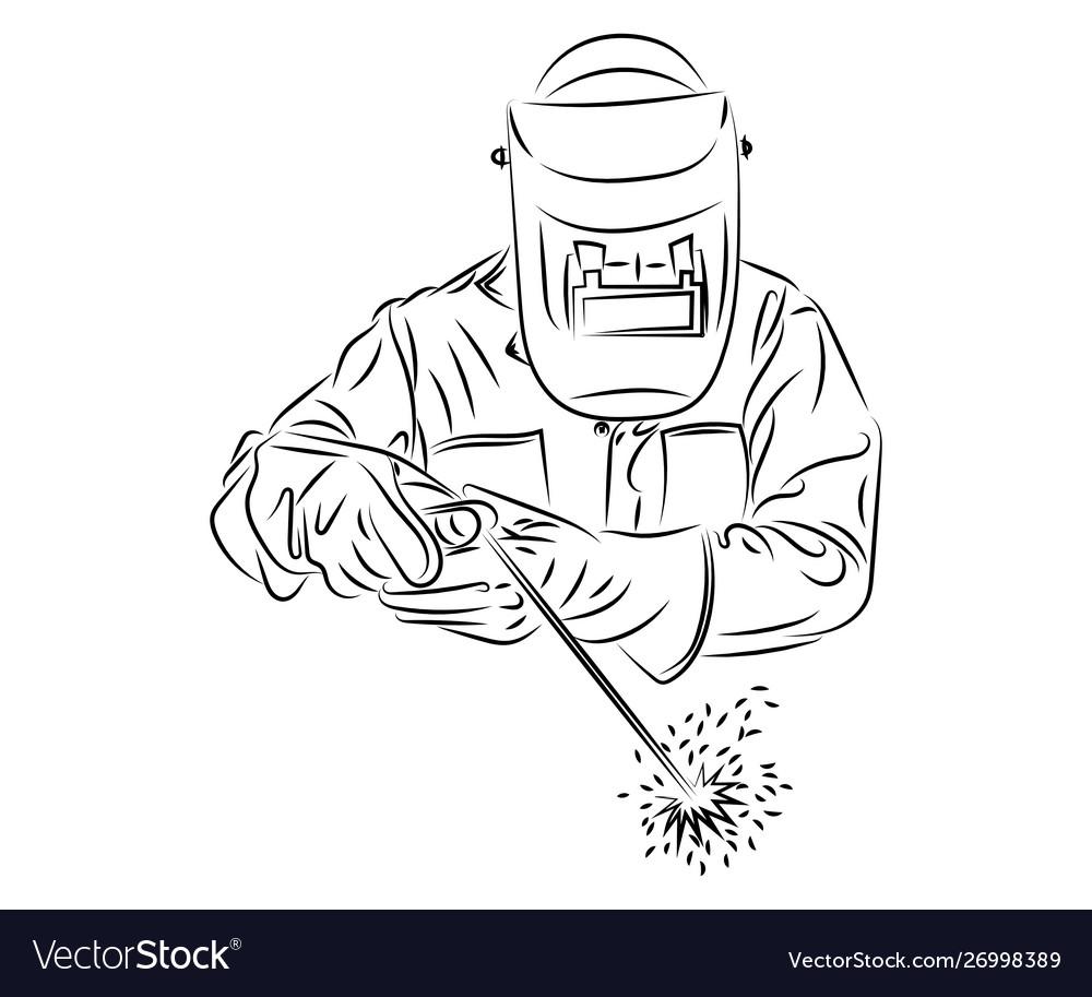 неширокие картинки сварщика за работой карандашом воду лист