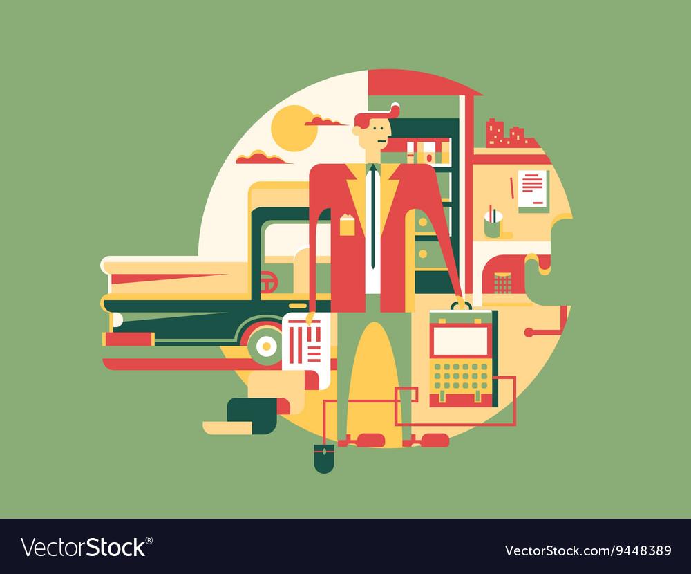 Work design concept icon vector image