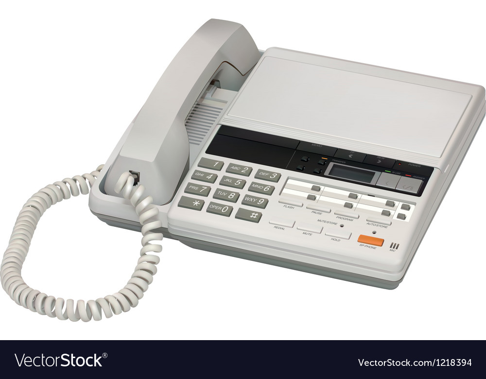 Answerphone vector image