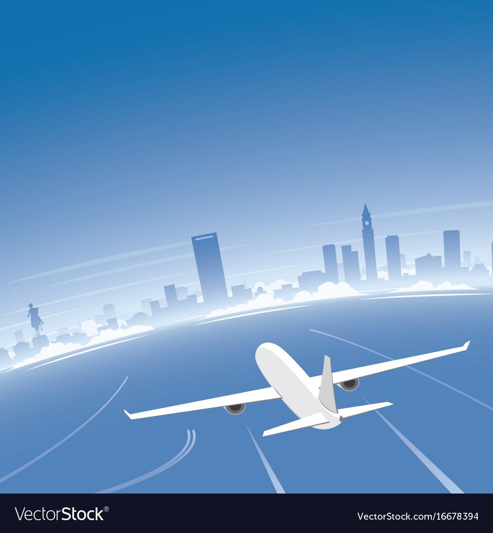 Boston skyline flight destination