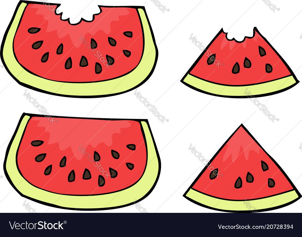Doodle watermelon slices