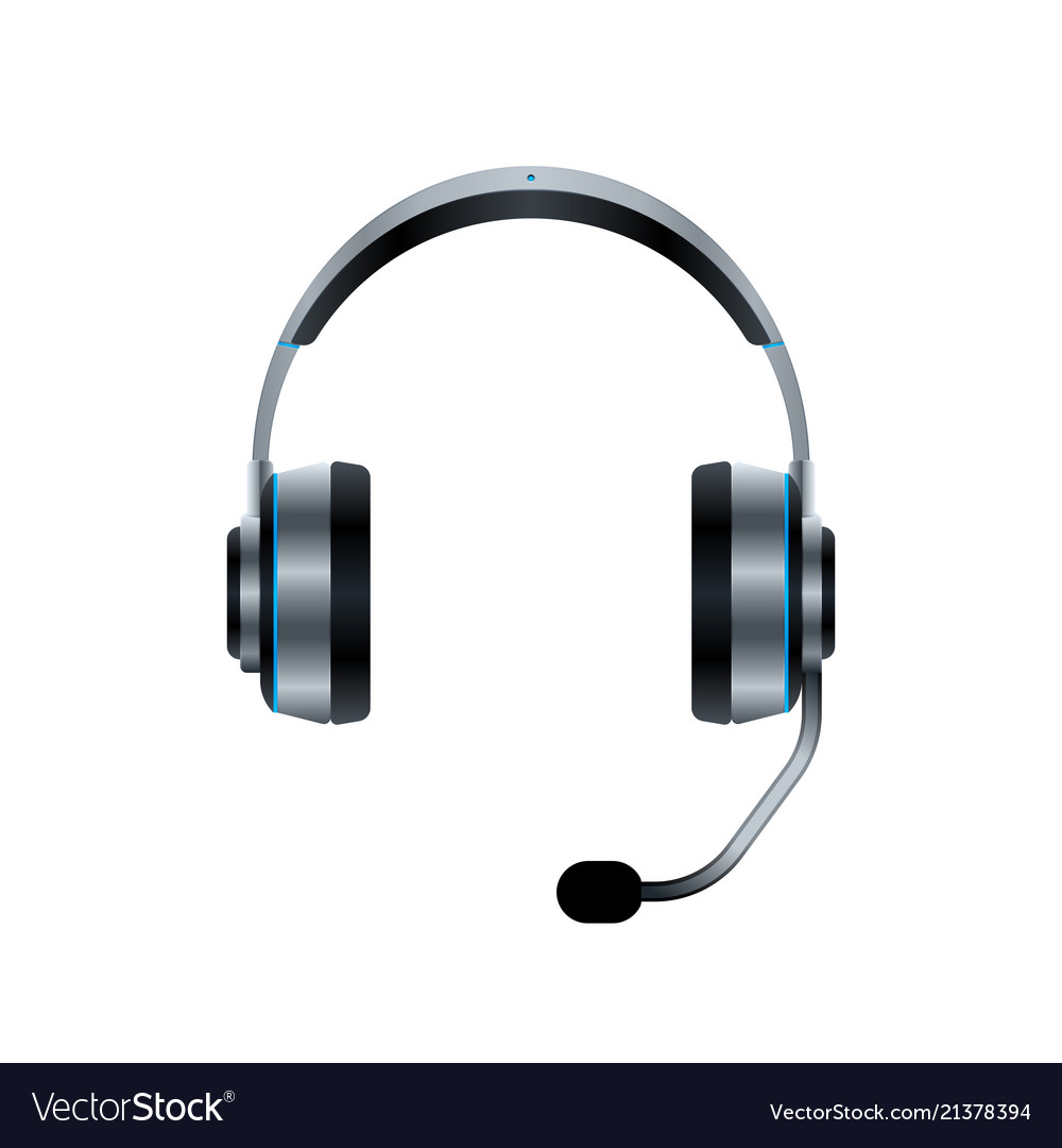 Headphones With Microphone Royalty Free Vector Image