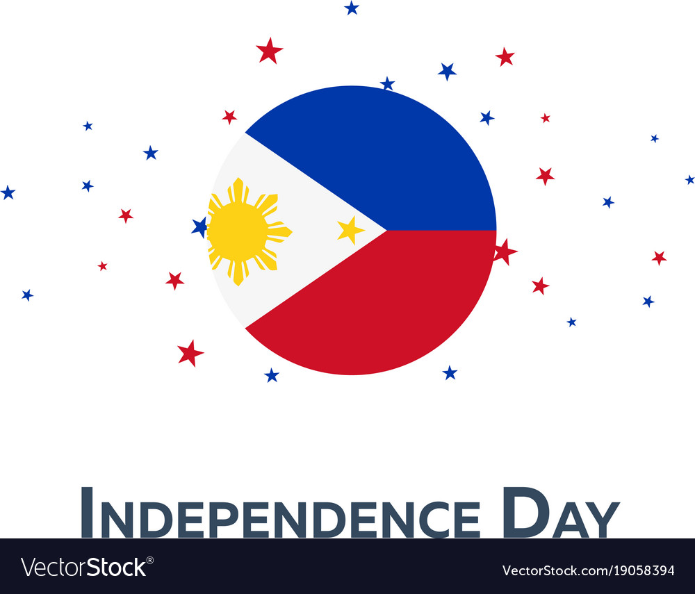 Independence day of philippines patriotic banner vector image