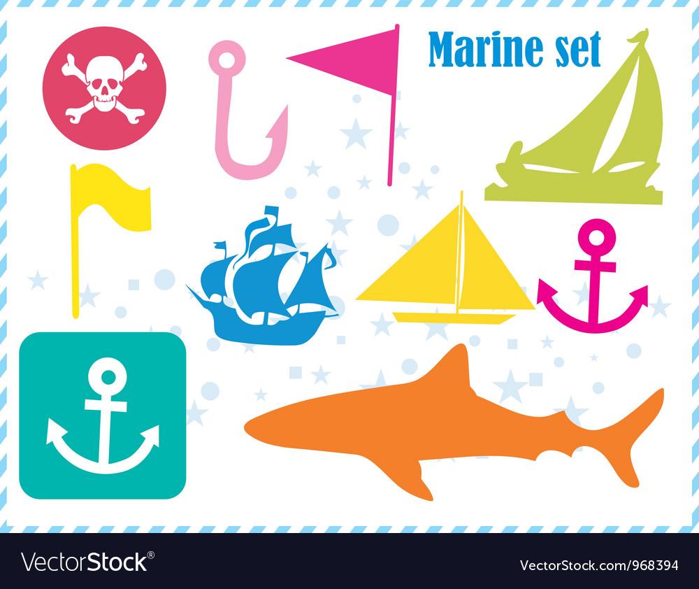 Ostcard with pirates set