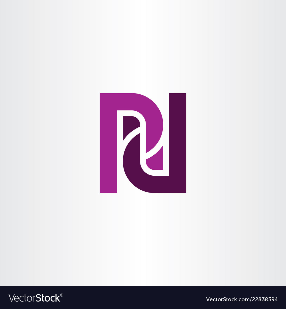 pd letter p and d purple logo icon vector image