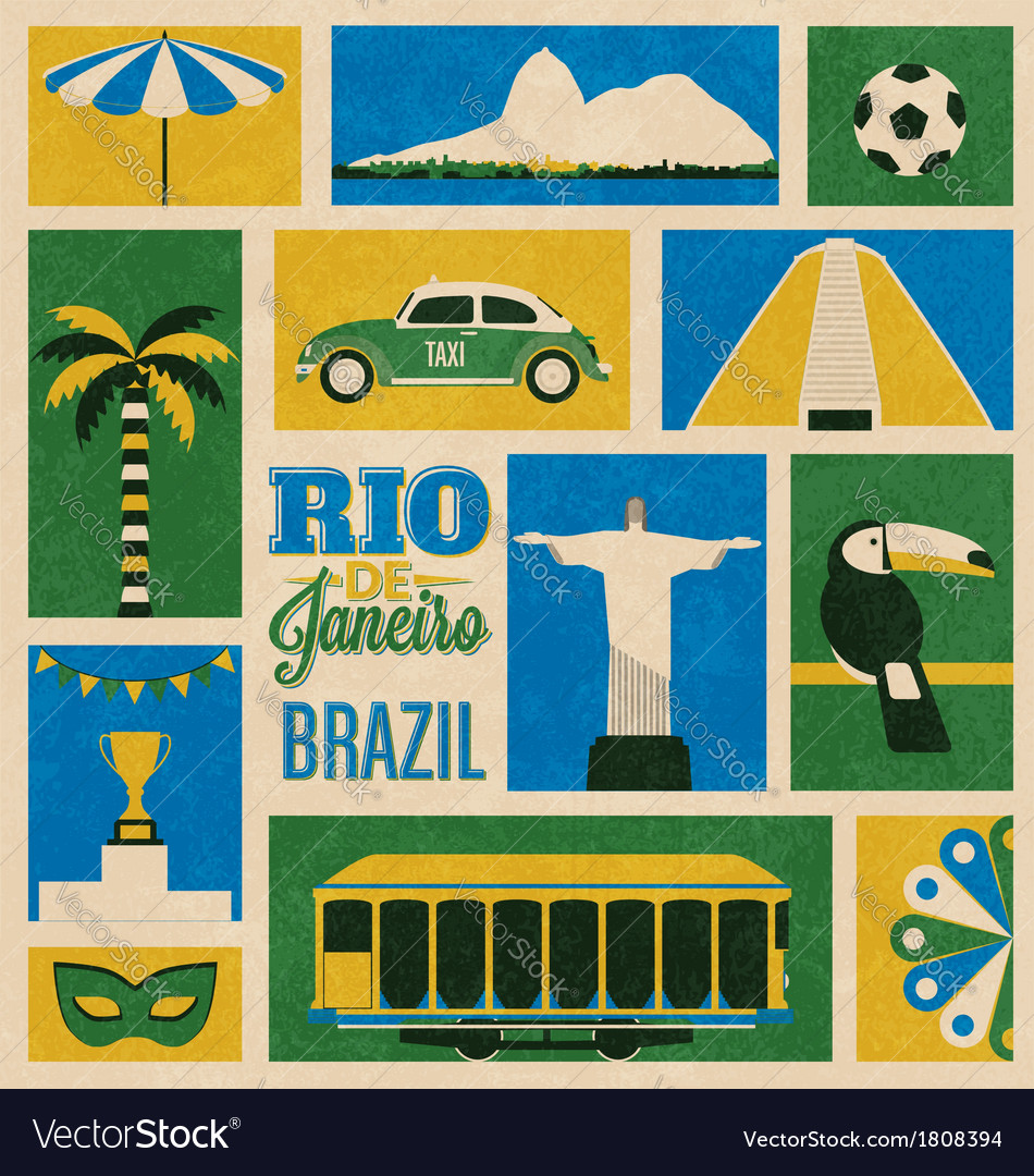 Retro Rio Icons