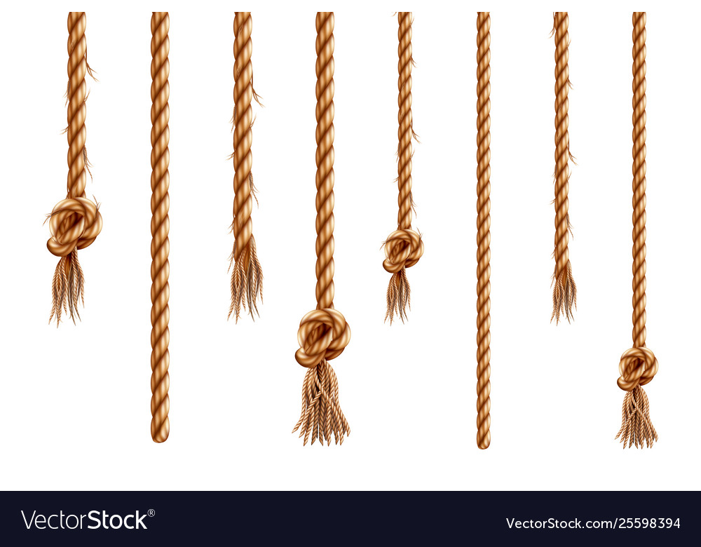 Set isolated hanging ropes with tassels