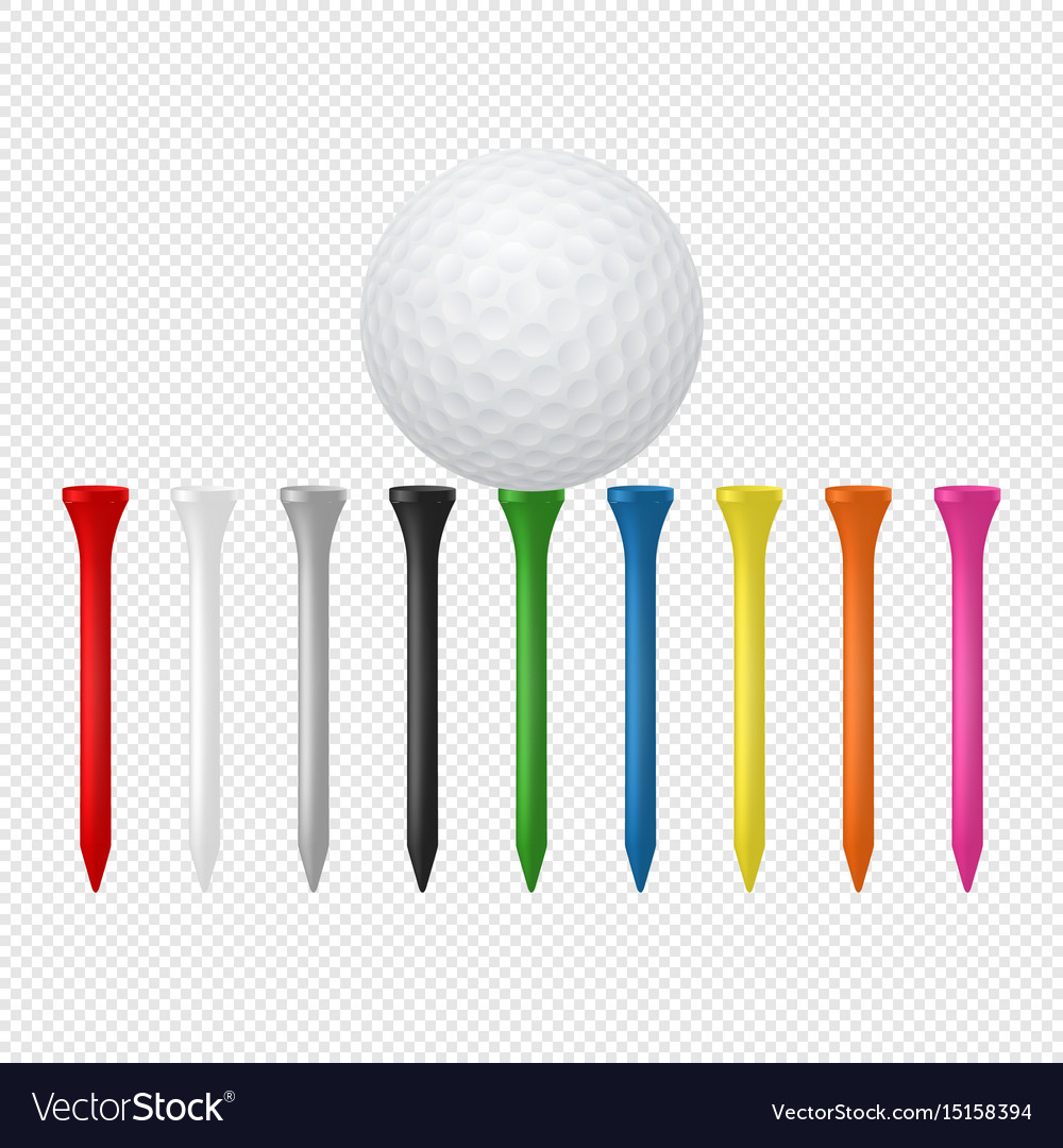 Sports set - realistic golf ball vector image