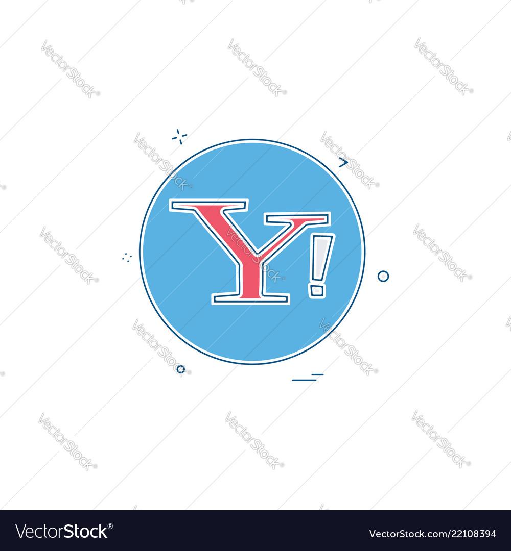 Yahoo Social Icon Design Royalty Free Vector Image