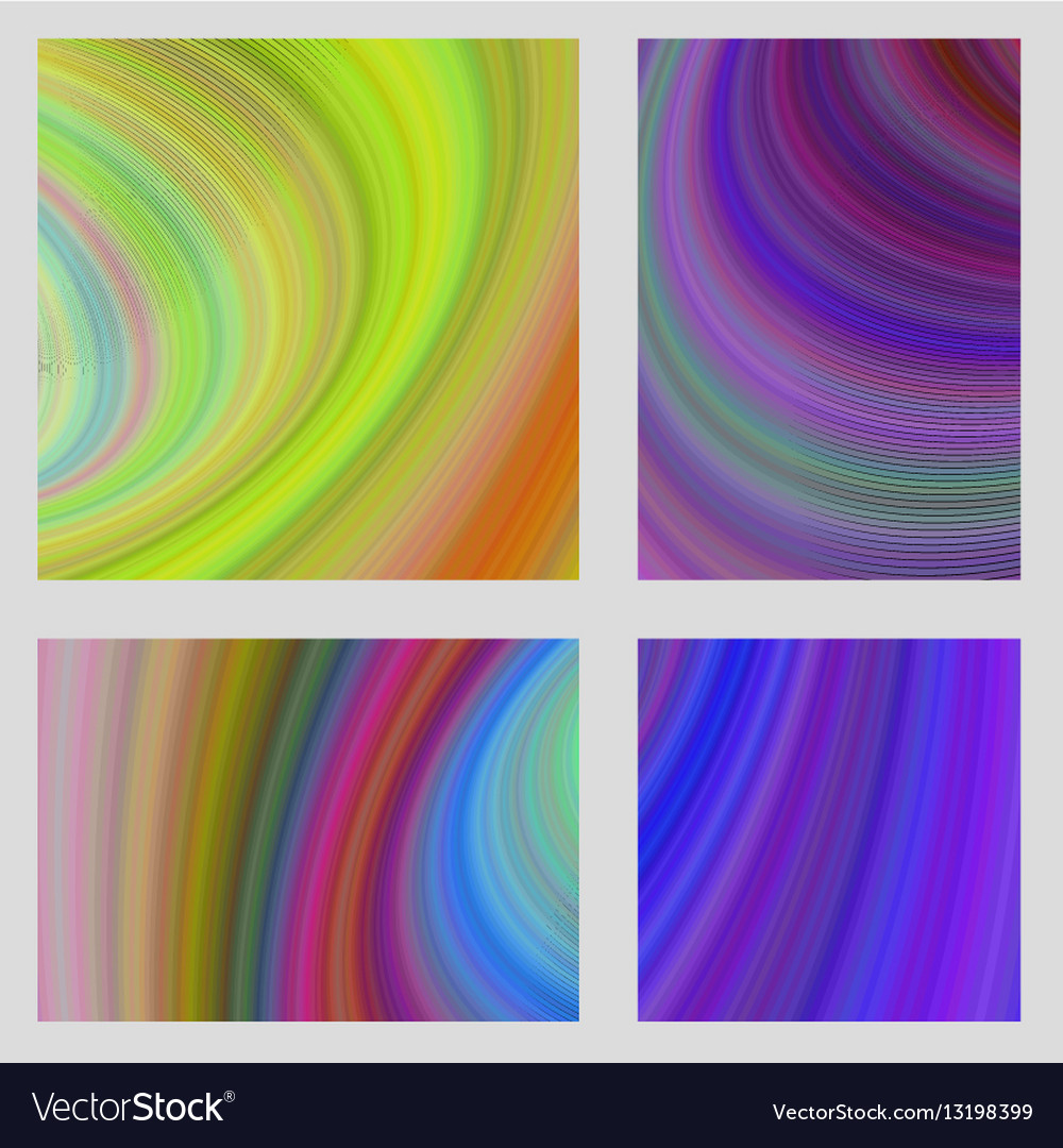 Abstract psychedelic brochure background set