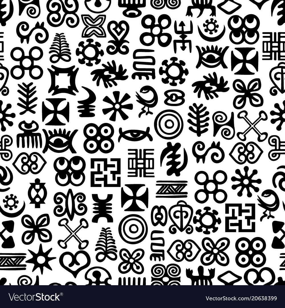 african adinkra pattern royalty free vector image