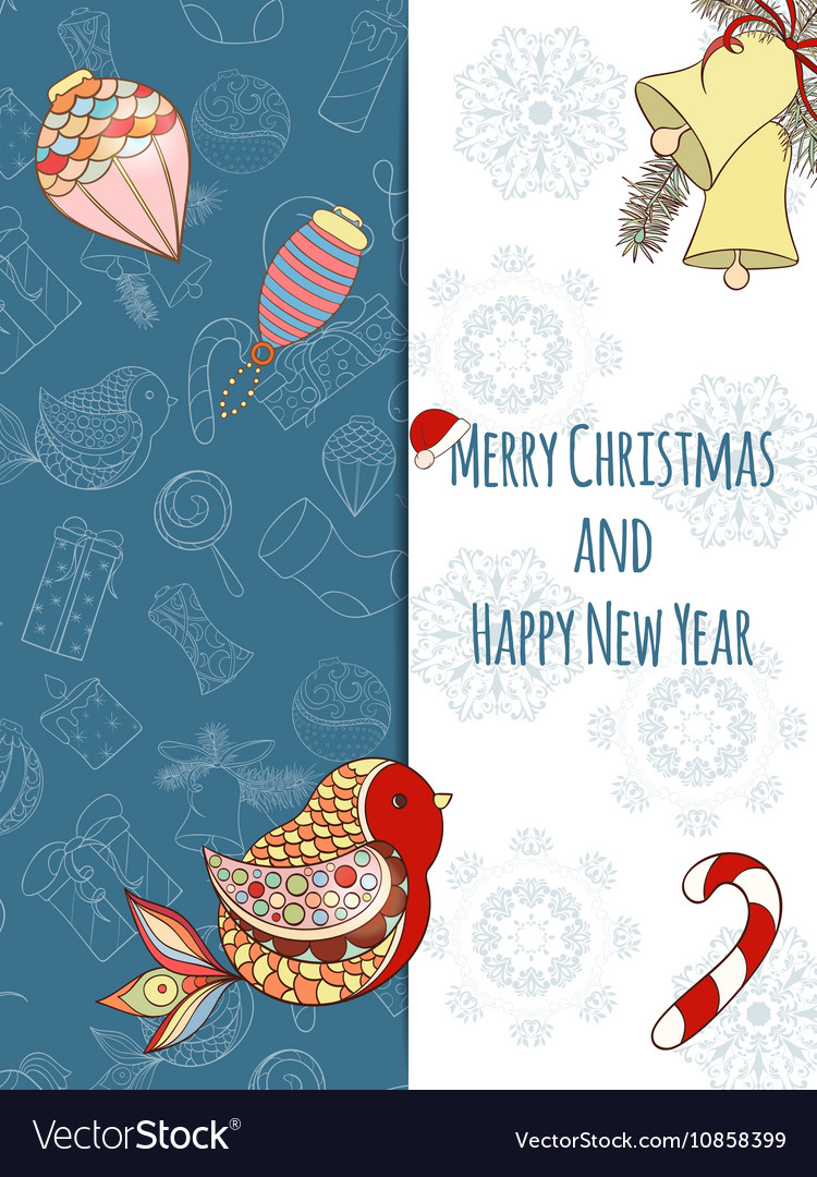Christmas and New Year invitation card