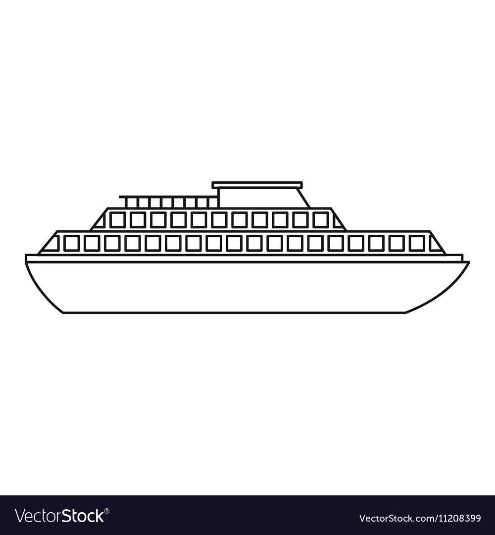 Cruise ship icon outline style