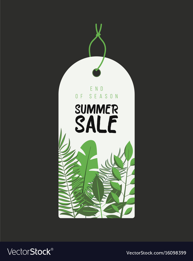 End of season summer sale background with flowers
