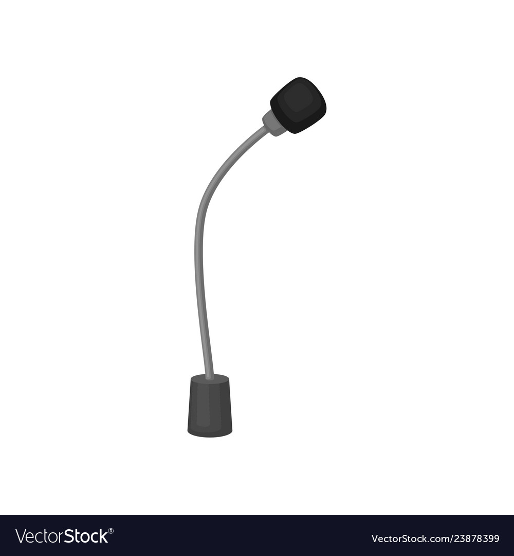 Flat Icon Of Small Table Microphone Royalty Free Vector
