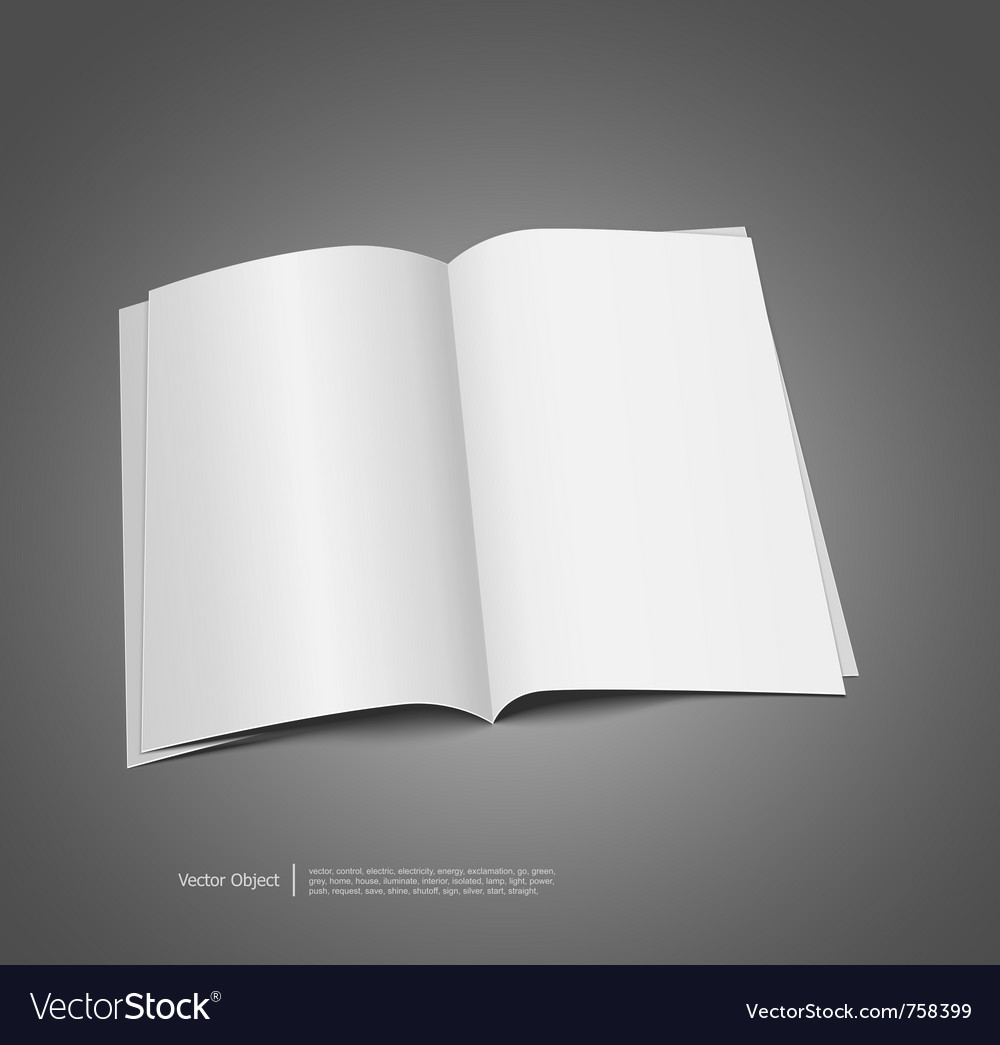 Magazine Blank Template Royalty Free Vector Image