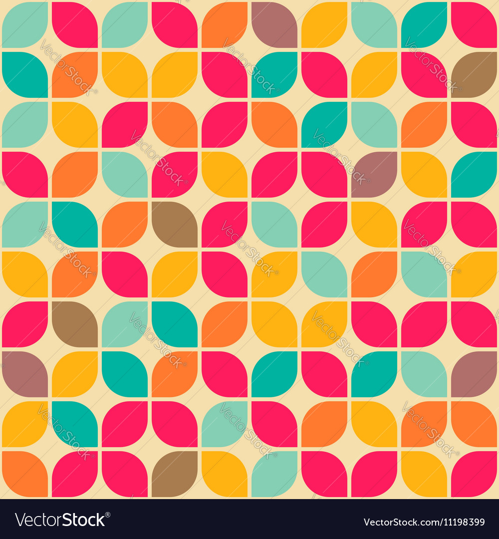 Rounded square retro pattern