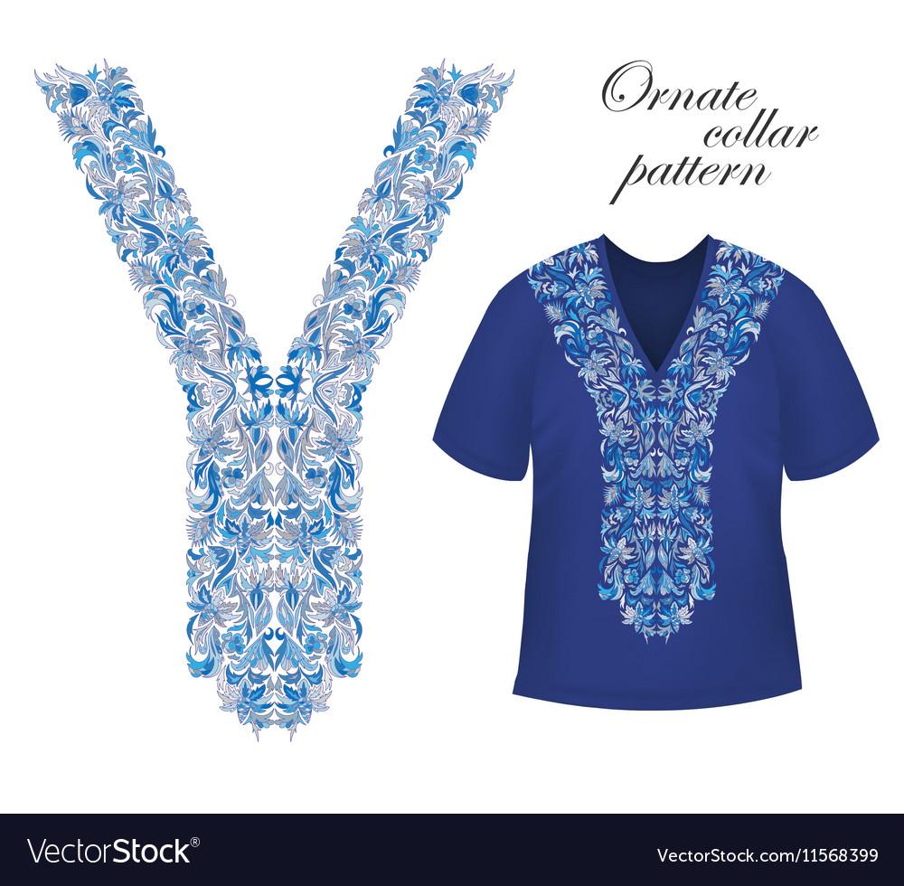 Shirt jacket and T-shirt collar pattern