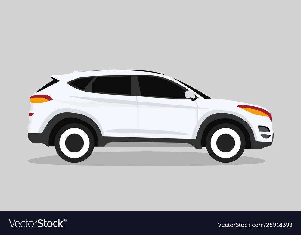 White hatchback car