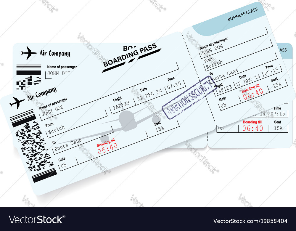 Airline boarding pass ticket concept of journey